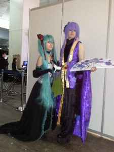 Two cosplayers at Hyper Japan 2012