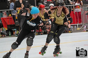Brighton Rockers whooping some roller derby butt
