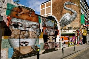A mixture of artists's street art
