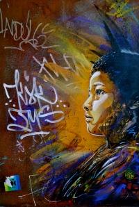 Stencil artist graffiti