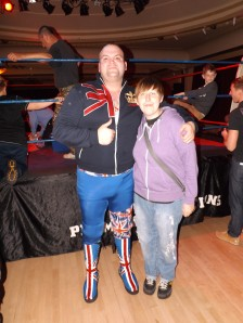 Wrestler James Kenna and I