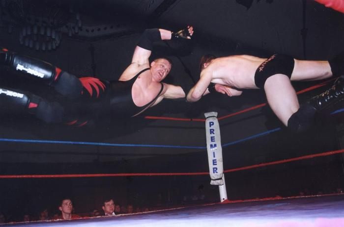 British wrestling action in the ring