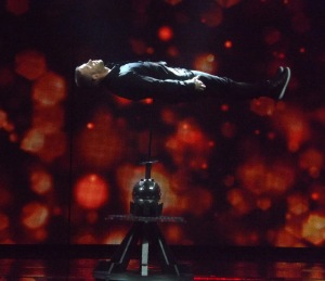 James More performing an amazing illusion
