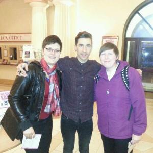 Christy and I with Russell Kane
