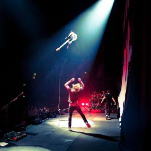 My guitar can fly - New Politics - photo by Jack Edinger