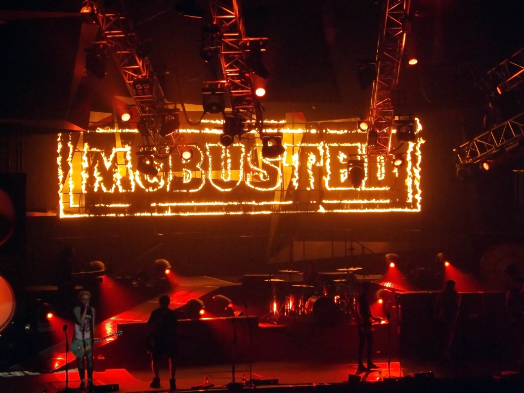 McBusted fire sign