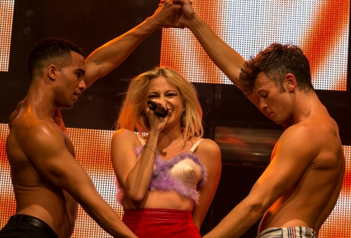 Pixie Lott giving a sizzling hot performance