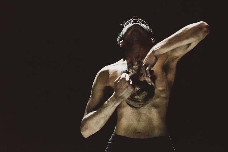 Production Week Murmur & Inked at DanceXchange. Photography by Sean Goldthorpe.