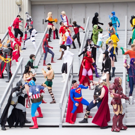 The Marvel and DC universes colide in an epic showdown - Photo credit - Pat Loika