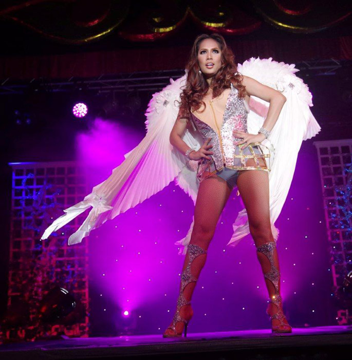 One of the Ladyboys in the Victoria Secrets inspired catwalk