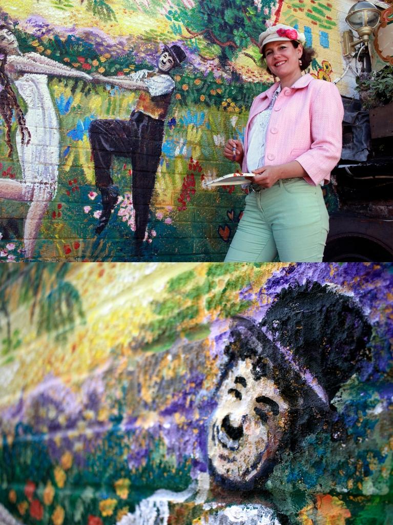Van Gogh inspired field of flowers