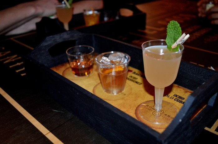 Trio of Bacardi cocktails