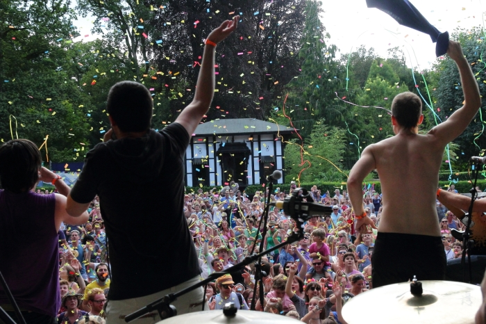 View from Main Stage of General's House Through Confetti, Stuart Walker © Larmer Tree Festival.jpg