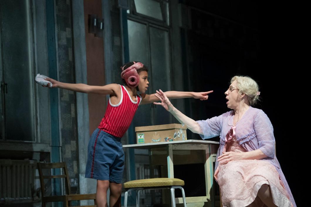 BILLY ELLIOT.  Emile Gooding (Billy Elliot) and Andrea Miller (Grandma) by Alastair Muir.jpg