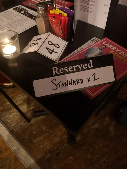 Reservation for table